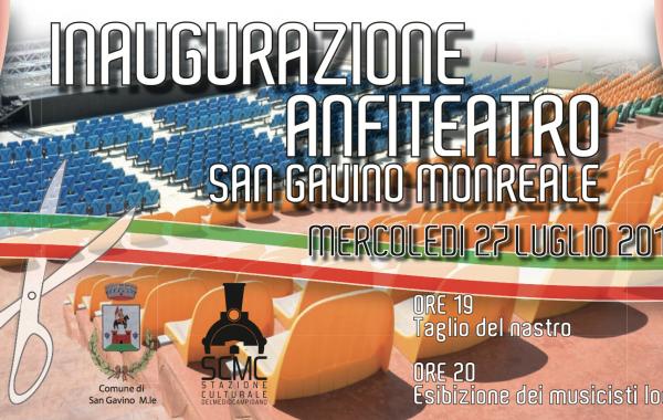 Inaugurazione Anfiteatro Comunale – San Gavino M.Le